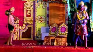 Makardhwaja takes blessings of his father Hanuman