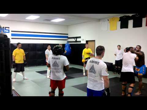 Muai Thai Clinch Training at AMMS in Los Angeles Image 1