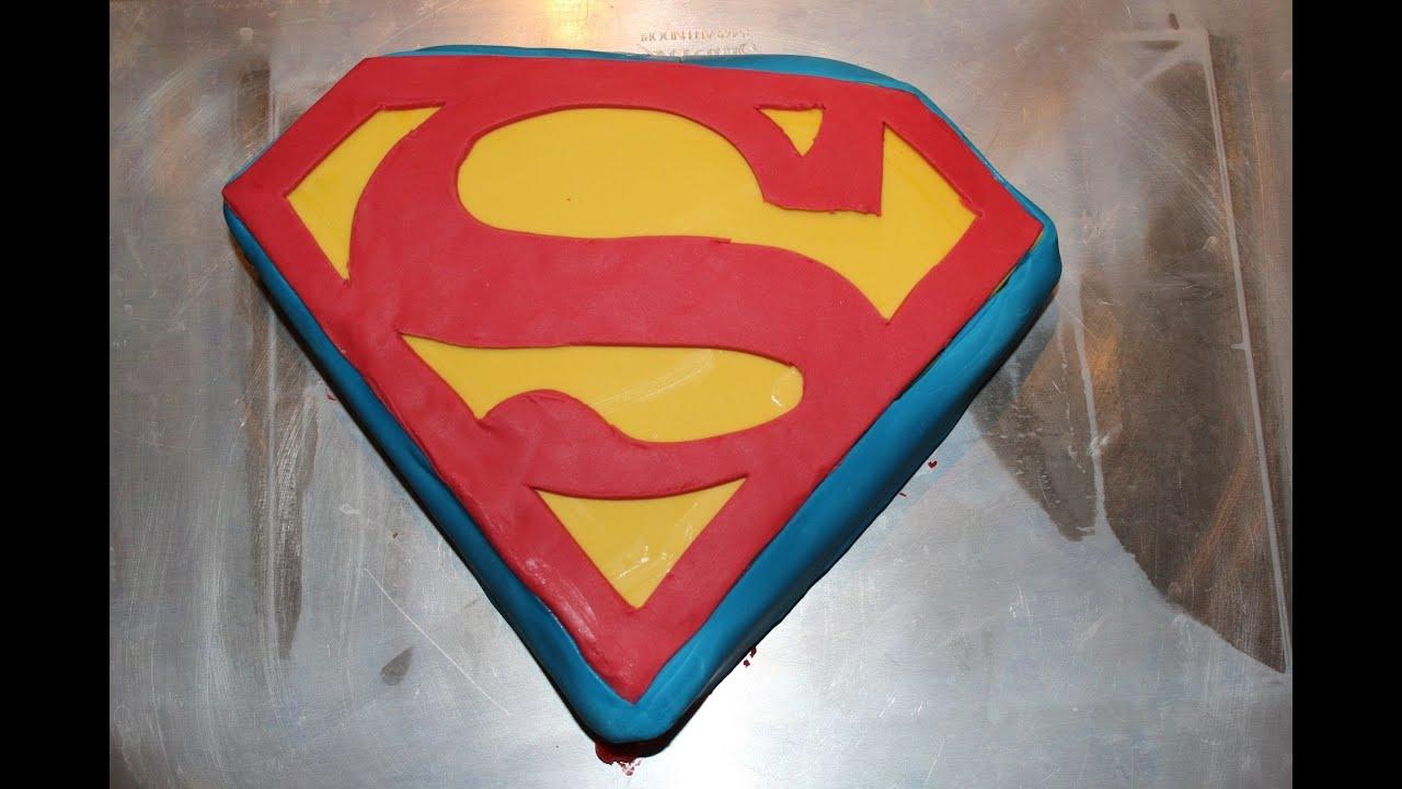 How To Make A Superman Logo Cake