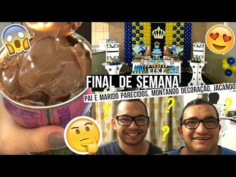 PAI E MARIDO IDÊNTICOS, FURANDO A DIETA, MONTANDO DECORAÇÃO DE FESTA ♥ - Bruna Paula thumbnail