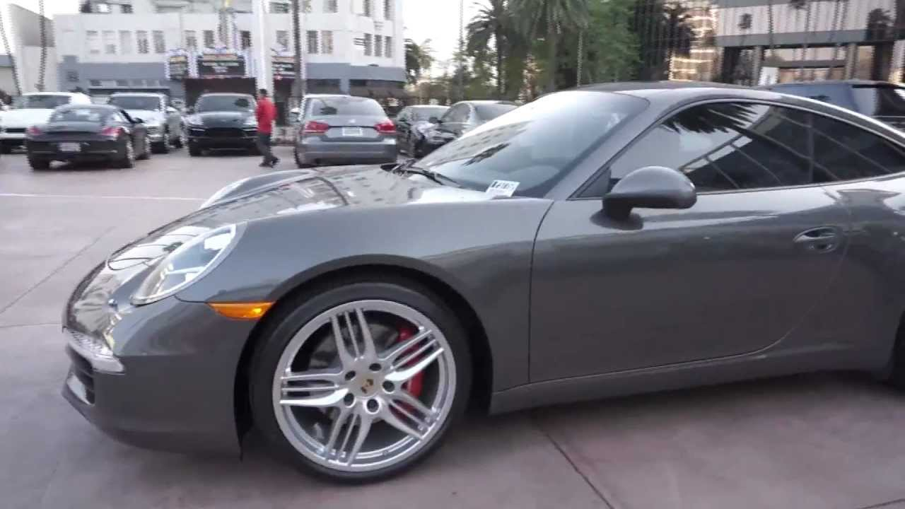 2012 Porsche 991 Carrera S Coupe 911 Agate Grey Black Pdk
