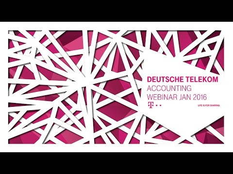 Deutsche Telekom´s Webinar: Accounting Changes 2016
