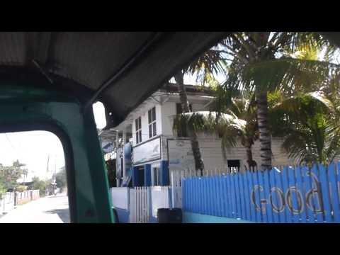 Tuk tuk to ferry terminal in Utila   Honduras   September 2014