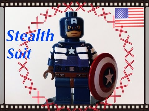 LEGO Marvel Captain America The Winter Solider Stealth Suit Custom Minifigure