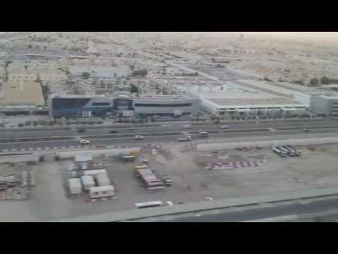 Landing to Doha international airport 2014