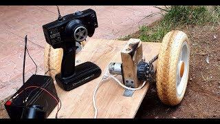 AMAZING IDEA for Drill Motor (Old video) Big RC Car Servo  - Çocuk arabası