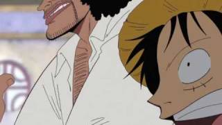 One Piece Luffy and Black beard funny scene