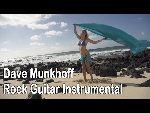 Guitar Solo Two Hand Tapping With Beautiful Sexy Girl On Beach video