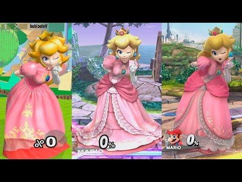 Super Smash Bros Wii U | Peach Evolution