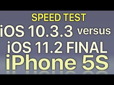iPhone 5S : iOS 11.2 Final vs iOS 10.3.3 Speed Test Build 15C114