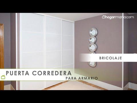 Crear puertas correderas para armario youtube for Construir puerta corredera