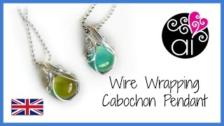 Wire Wrapping Cabochon Pendant | Wire Wrapping Basis Tutorial | Square Wires | ENG