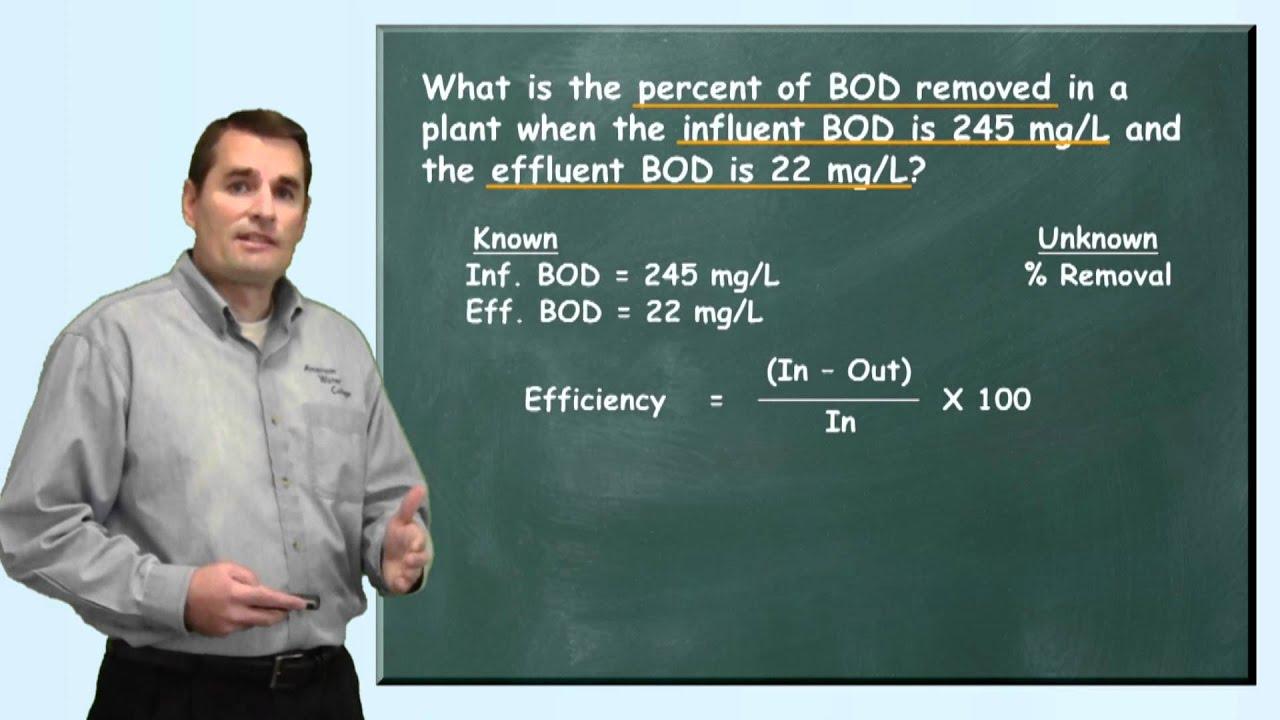 Problem Solved Bod Removal Efficiency Problem