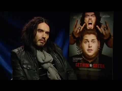 RUSSELL BRAND talks about the papparrazi sucking his nipples and GET HIM TO THE GREEK