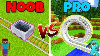NOOB vs PRO - ROLLERCOASTER! - in Minecraft PE