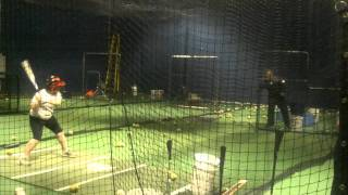 Shannon Ward Batting Practice With Bill Madlock