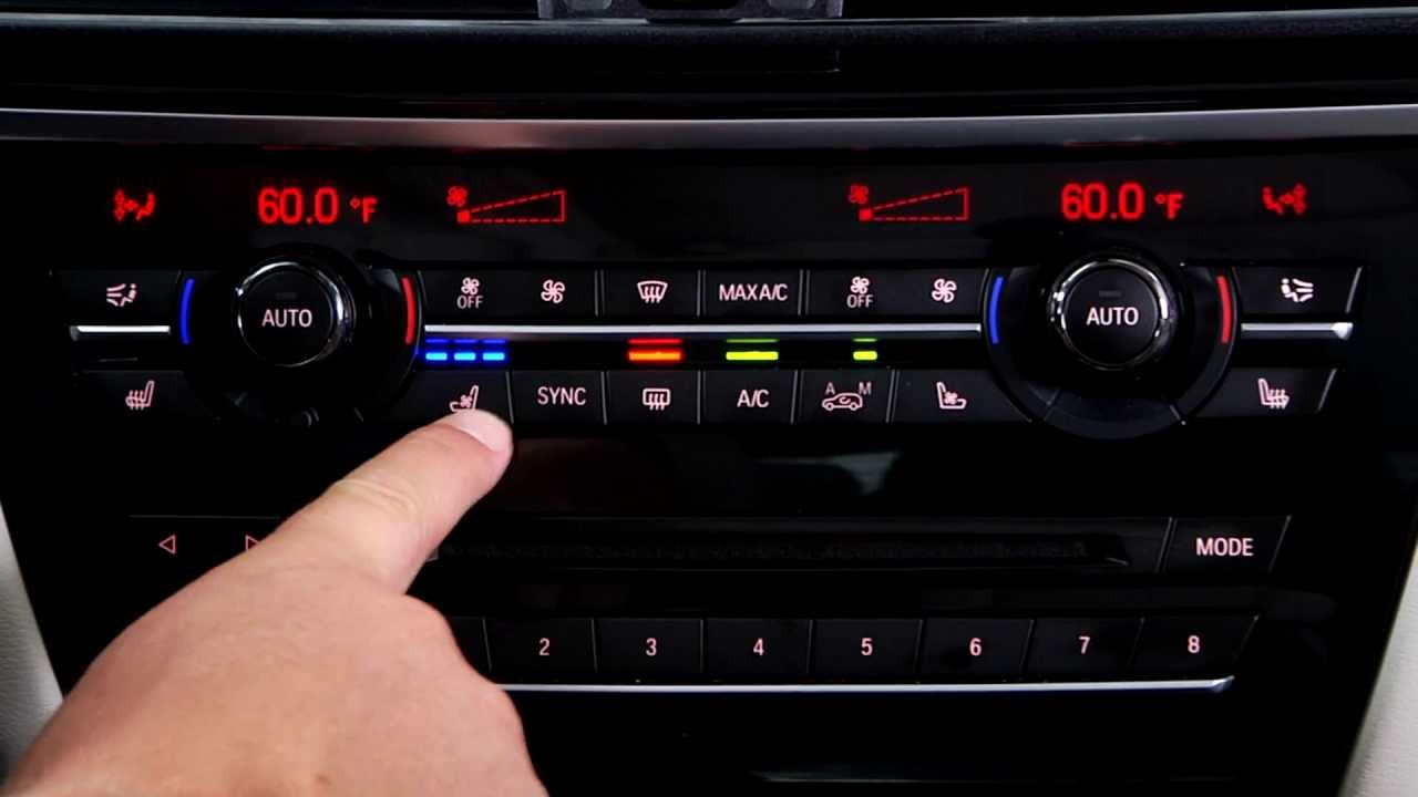 BMW X 5 HVAC Function Buttons 2 - YouTube