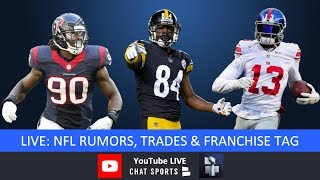 NFL Rumors, Antonio Brown, Odell Beckham, Le'Veon Bell, Players Who Could Be Traded, & Franchise Tag