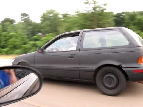 94 5.0 Mustang GT 125 Shot Vs 4g63 Turbo Dodge Colt From a
