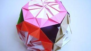 七夕飾り 折り紙-簡単-くす玉の ... : 仙台七夕飾り作り方 : 七夕