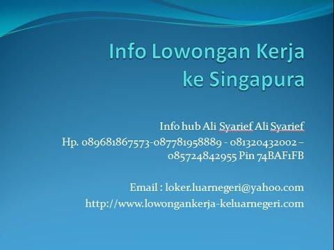 Lowongan Kerja Restoran Di Singapura