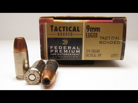 Federal Premium 9mm Tactical Bonded 124 Grain Tactical HP Denim and Gel Test