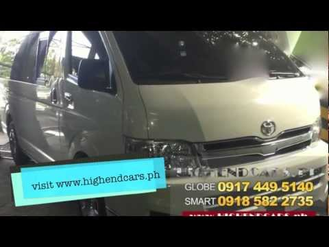 TOYOTA HIACE 2013 15 SEATER DIESEL PHILIPPINES WWW.HIGHENDCARS.PH