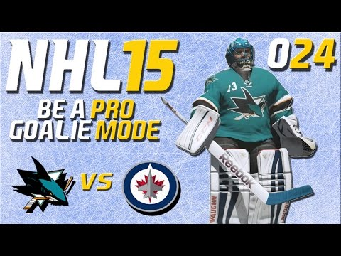 NHL 15 Torhütermodus [Be A Pro] #024 - San Jose Sharks - Winnipeg Jets ★ Let's Play NHL 15 Be a Pro