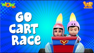 Go Cart Race - Vir :The Robot Boy- Kid's animation cartoon series