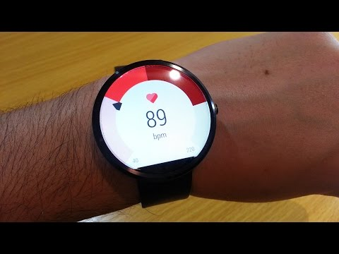Heart Rate Monitor on Moto 360