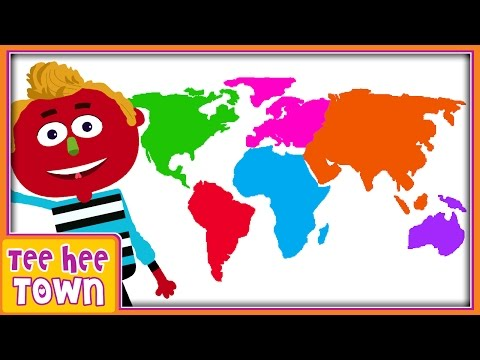 Continents Song  Learn 7 Continents Song  Original Song for Children  Teehee Town