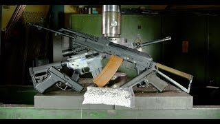 Crushing airsoft stuff with hydraulic press