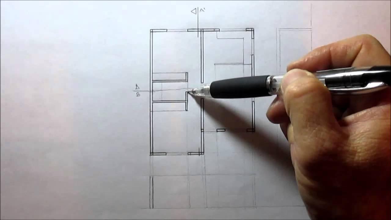 C mo hacer un corte de un plano arquitect nico youtube - Como hacer un plano de una casa ...