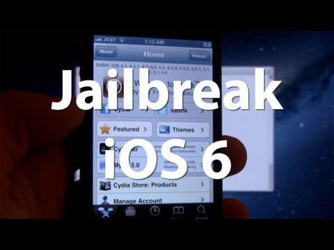 Jailbreak iOS 6 & Install Cydia Manually- iPhone 4. 3Gs. iPod Touch 4G - Tethered Jailbreak