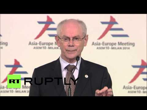 Italy: Van Rompuy stresses 'implementation of Minsk deal' after talks with Putin