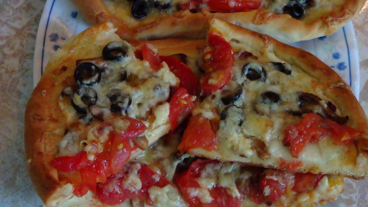 Заливная пицца на сковороде рецепт