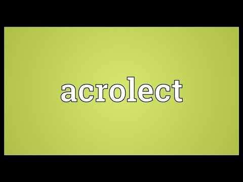 Header of acrolect