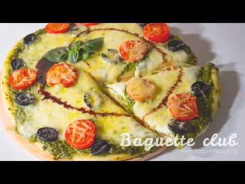 """Итальянская вегетарианская пицца с соусом """"Песто"""""""