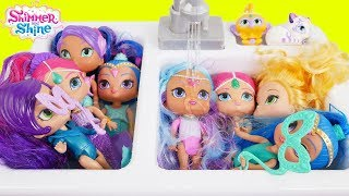 Shimmer and Shine Game Morning Dolls Bedtime Routine Baby Surprise Movie Bubble Bath Play Dress Up!