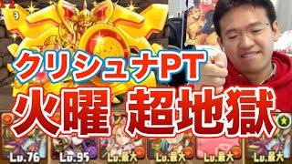 【パズドラ】火曜ダンジョン 超地獄級にクリシュナパで挑戦!