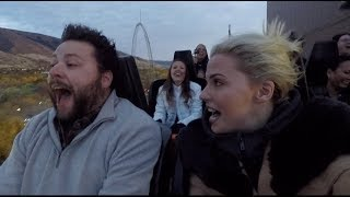 GROWN MAN FACES HIS ROLLER COASTER FEARS AND HIS REACTION IS THE BEST