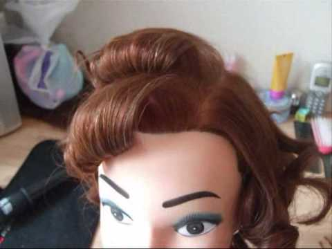 Old Hollywood 1940 s Waves Hair Tutorial.wmv