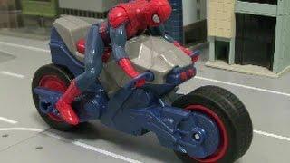 đồ chơi siêu nhân người nhện xe đạp Spiderman Bike Toys 스파이더맨 오토바이 장난감
