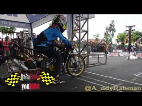 AHRS drag bike championship Hendra Kecil Kawasaki Ninja FFA 155 cc Tune up FULL HD