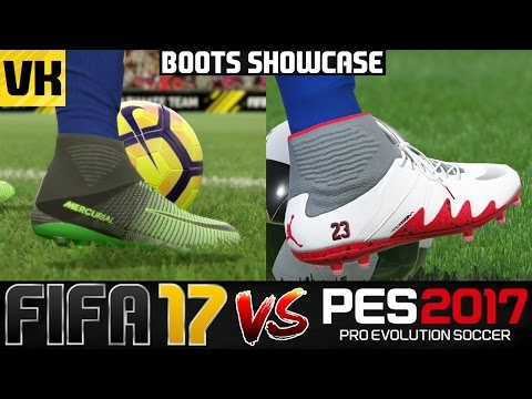 FIFA 17 VS PES 2017 BOOTS/CLEATS SHOWCASE (Jordan x Neymar, HyperVenom, Mercurial etc)