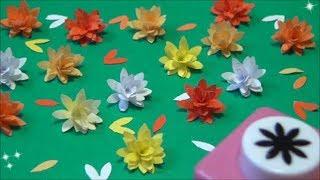 (ペーパーフラワー)簡単!かわいい!小さな花の作り方2 【DIY】(Paper Flower) Easy! Tiny!Small flowers