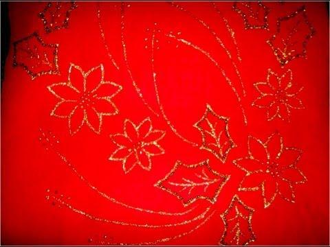 Manualidades navideñas camino de mesa pintado