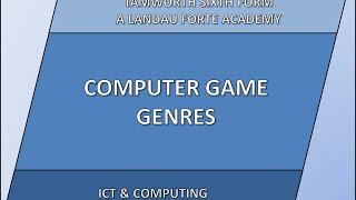 Computer Game Genres