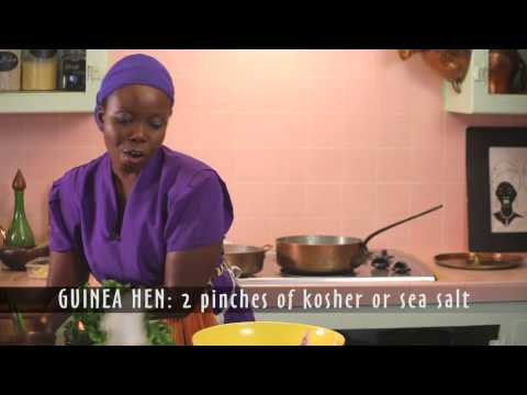 Taste Africa in Style! Healthy African Cooking! GUINEA Hen - Kale Peanut