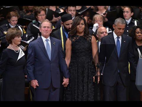 George W Bush Had a REALLY Good Time Dancing at Dallas Police Memorial